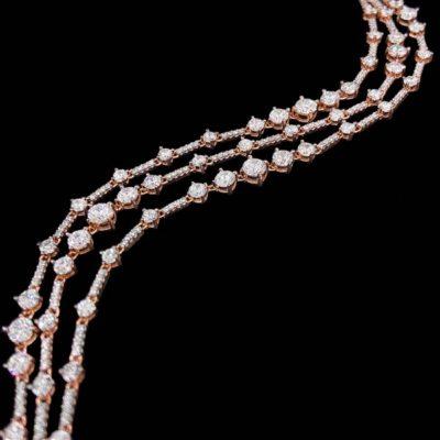 Pulsera Aventûre de plata rosa y circonitas Soirée