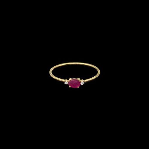 Anillo Garden de oro y rubí Iris