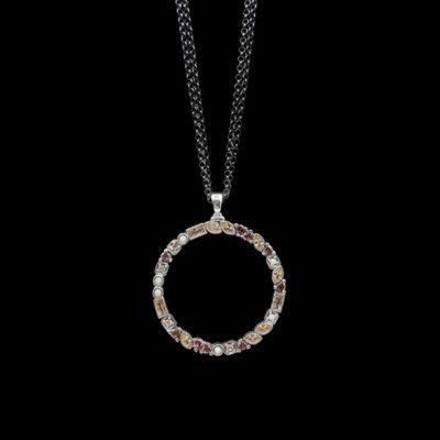Colgante Cloris de plata y cuarzos Iris