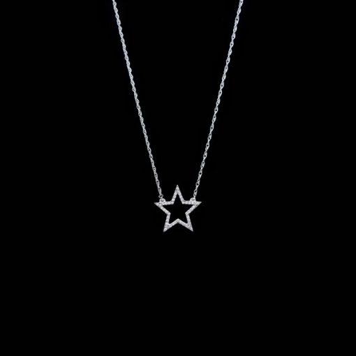 Colgante Forever de oro blanco y diamantes Star