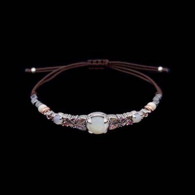 Pulsera Cloris de plata, cuarzos y nácar Afrodita