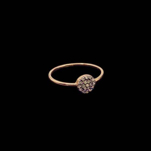 Anillo Endless de oro rosa y diamantes brown Broquel