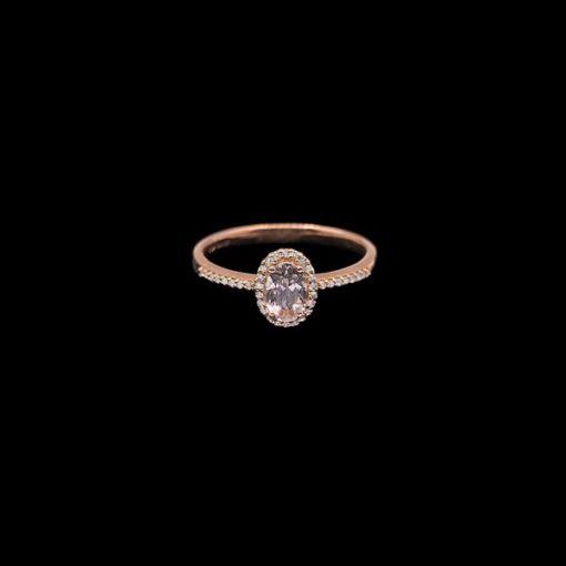 Anillo Endless de oro rosa, diamantes y morganita