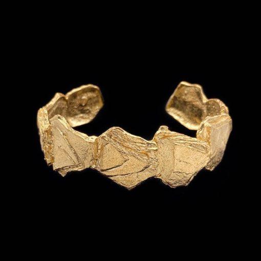 Brazalete Meteora de plata dorada Nereida