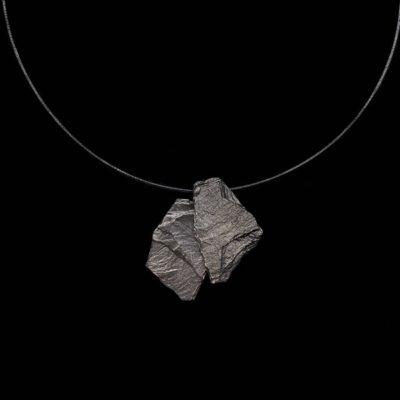 Colgante Meteora de plata negra Galatea