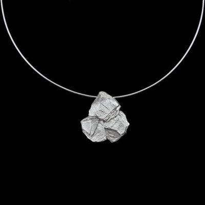 Colgante Meteora de plata Nereida
