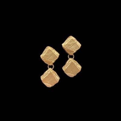 Pendientes Meteora de plata dorada Caronte