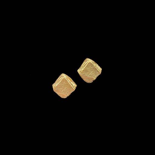 Pendientes Meteora de plata dorada Nereida