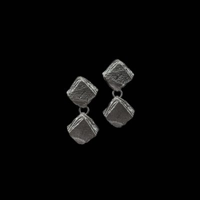 Pendientes Meteora de plata negra Caronte