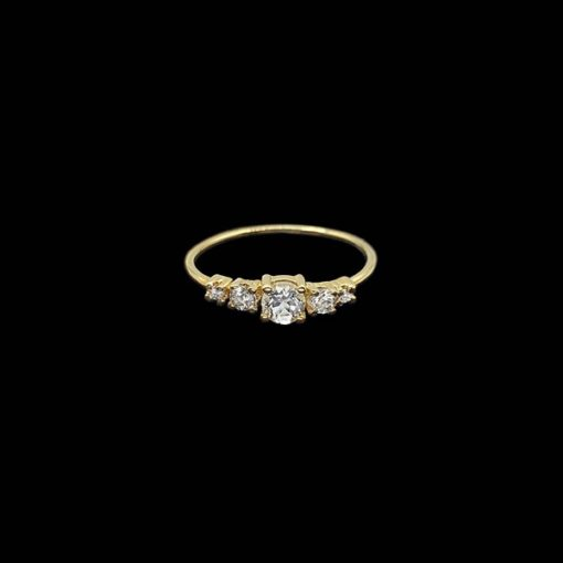 Anillo Eggo de oro, diamantes y topacios Cinquee